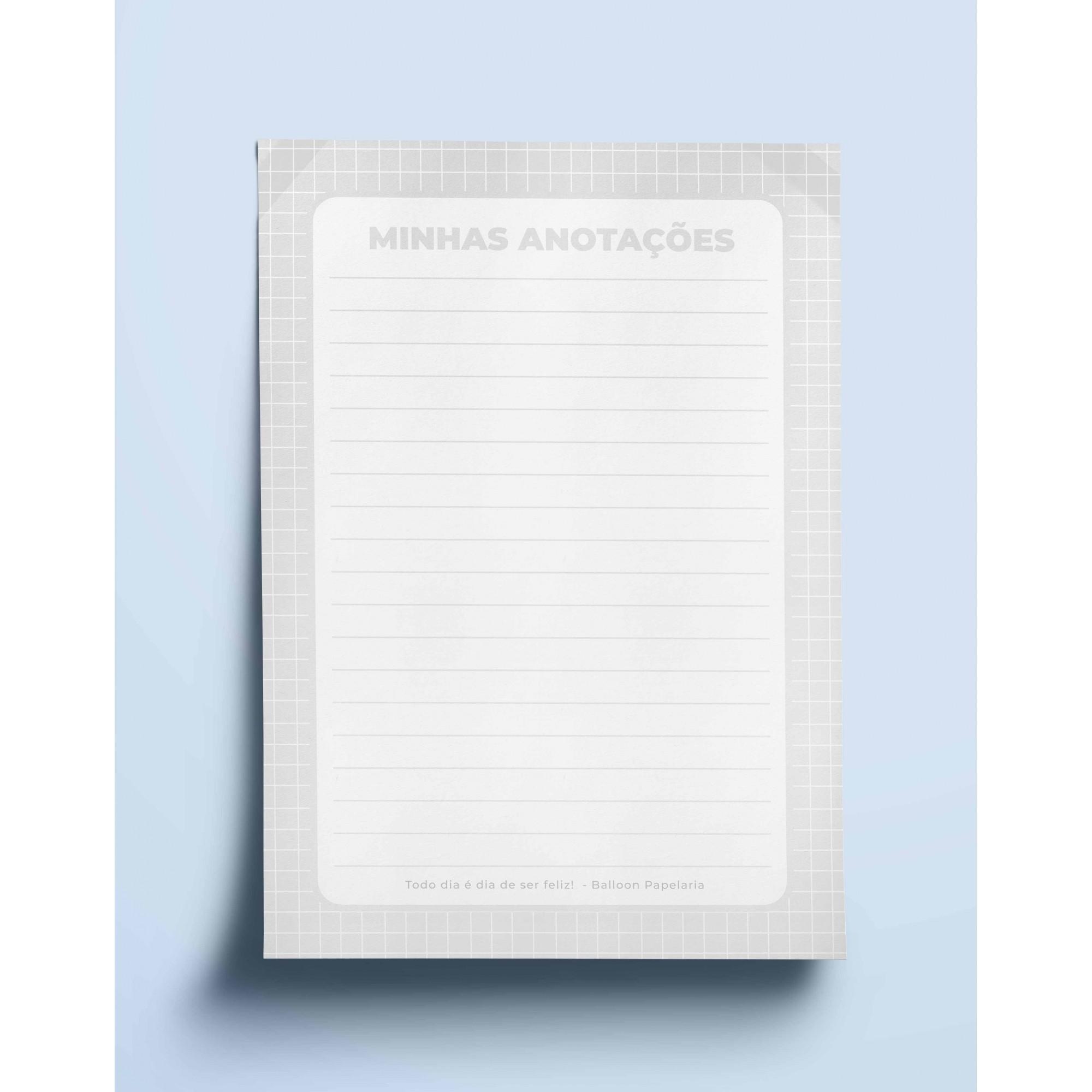 Bloco anotações - neutro