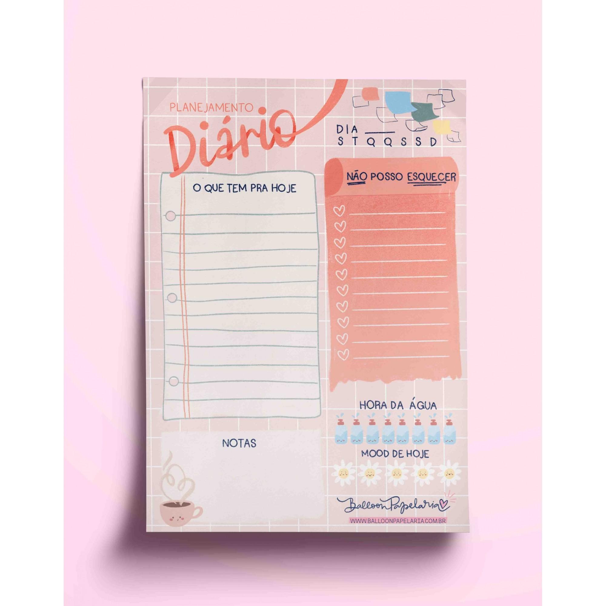 Bloco diário - o que tem para hoje