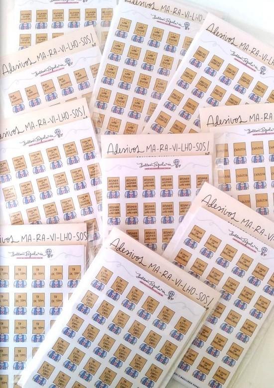 Kit Helôs com saco - 15 cartelas