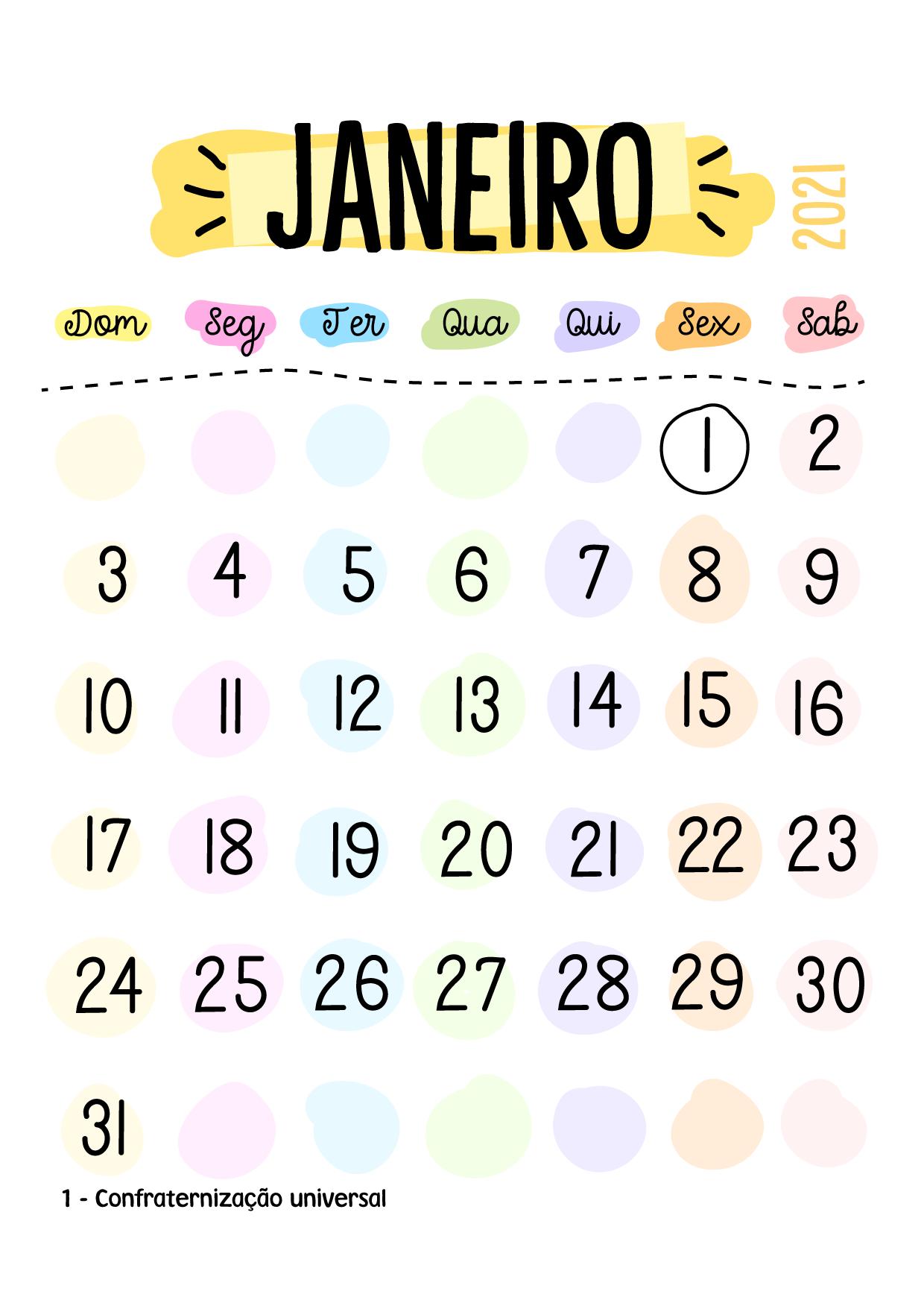 Kit mini calendários - 24 meses 2021