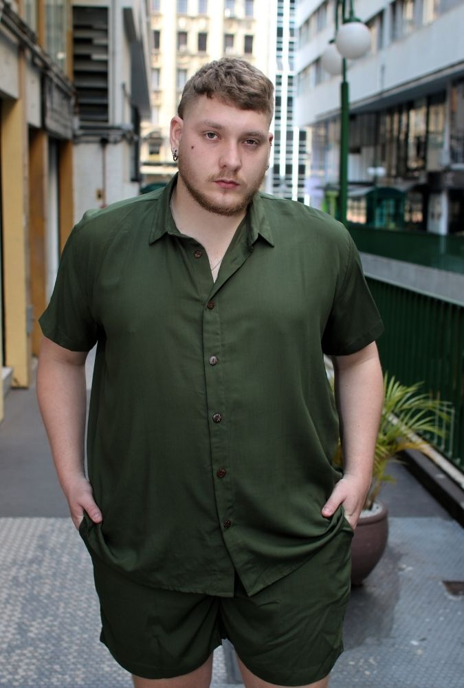 Camisa Viscose Verde