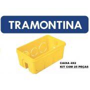CAIXA PLÁSTICA DE EMBUTIR 4x2 TRAMONTINA CX/50
