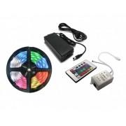 FITA LED RGB 5050 5M IP65 COM CONTROLE E FONTE - PROMOÇÃO