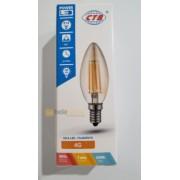 LAMPADA VELA FILAMENTO DE LED E14 2300K 4G 3,2W  BIVOLT