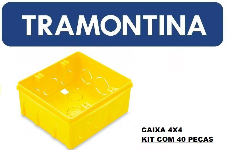 CAIXA PLÁSTICA DE EMBUTIR 4x4 TRAMONTINA CX/40
