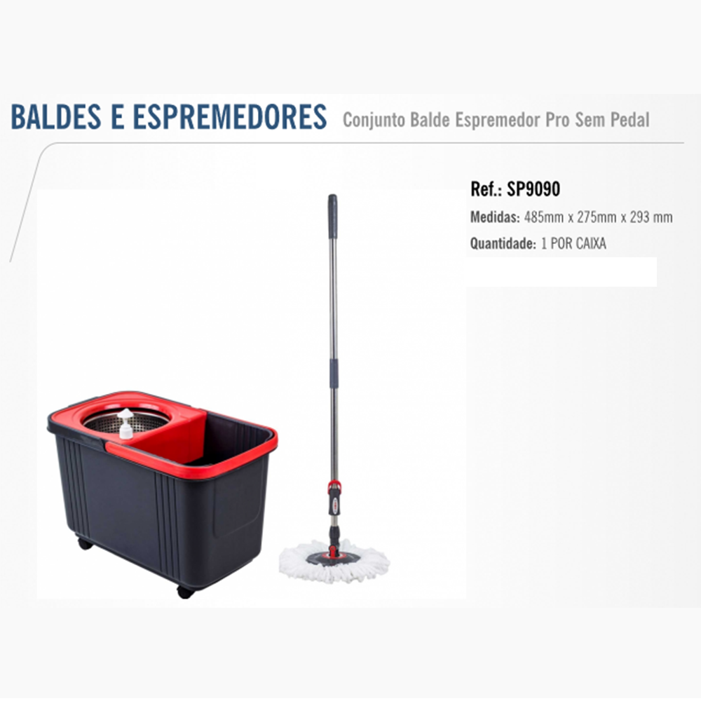 CONJUNTO BALDE E MOP PRO BETTANIN S/PEDAL SP-9090