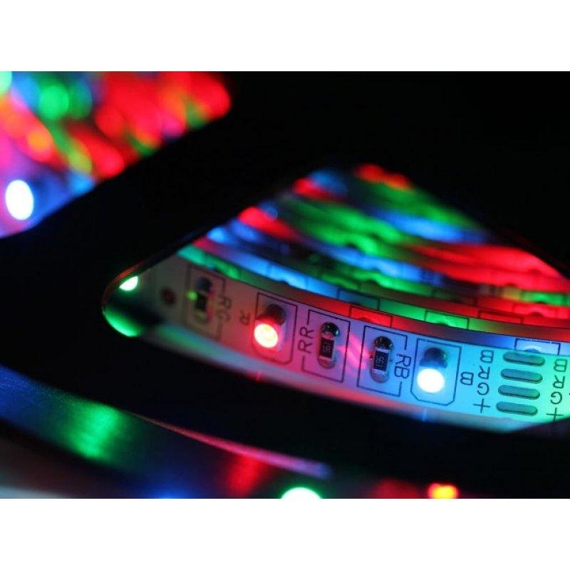 FITA LED RGB 5 M 3528 IP65 COM FONTE E CONTROLE- PROMOÇÃO