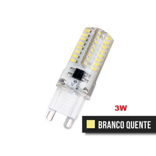 KIT 05 LÂMPADAS LED G9 HALOPIM 3W BRANCO QUENTE