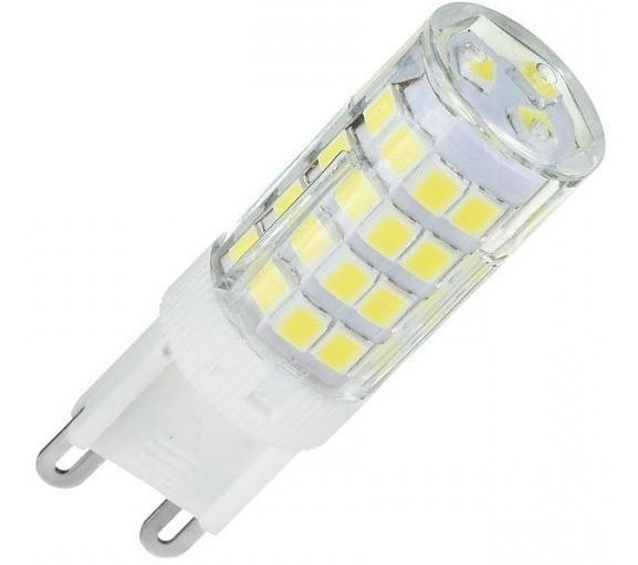 KIT 05 LÂMPADAS LED G9 HALOPIN 3,5W 220V BRANCO QUENTE