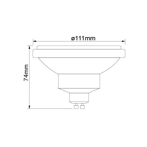 LAMP LED AR111 12W 2700K GU10 BIVOLT DIMERIZAVEL