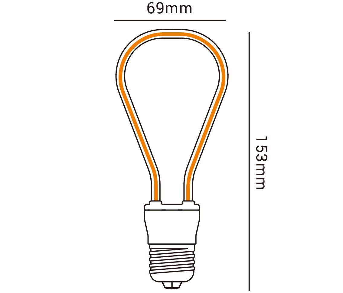 LAMPADA FILAMENTO 2D 2200K BIVOLT E27