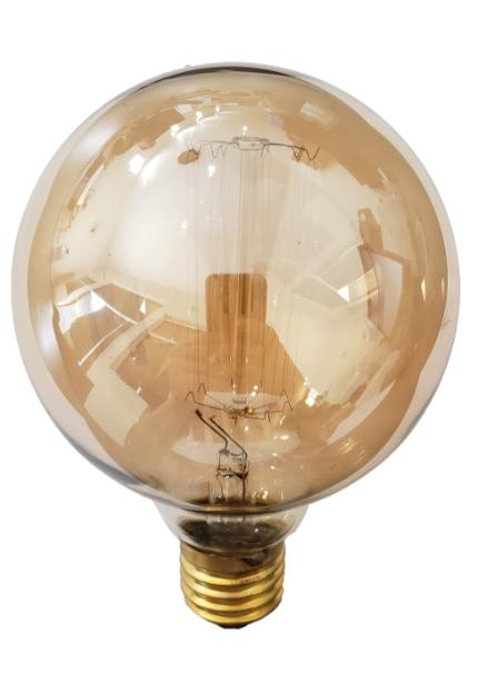 LAMPADA FILAMENTO DE CARBONO G95 E27 40W 220V RETRÔ VINTAGE