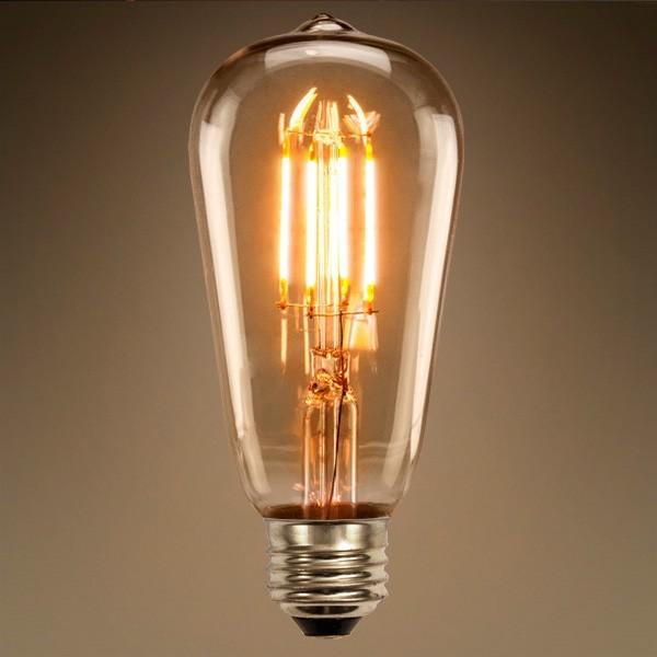 LAMPADA FILAMENTO LED ST64 4W BQ SAIME