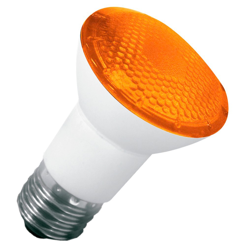 LAMPADA LED PAR 20 6W E27 IP65 BIVOLT AMBAR