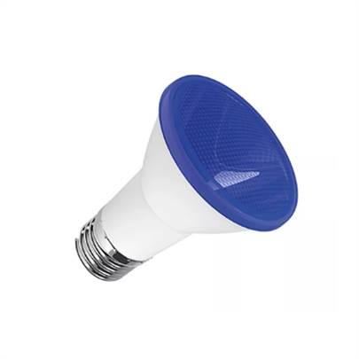 LAMPADA LED PAR 20 6W E27 IP65 BIVOLT AZUL