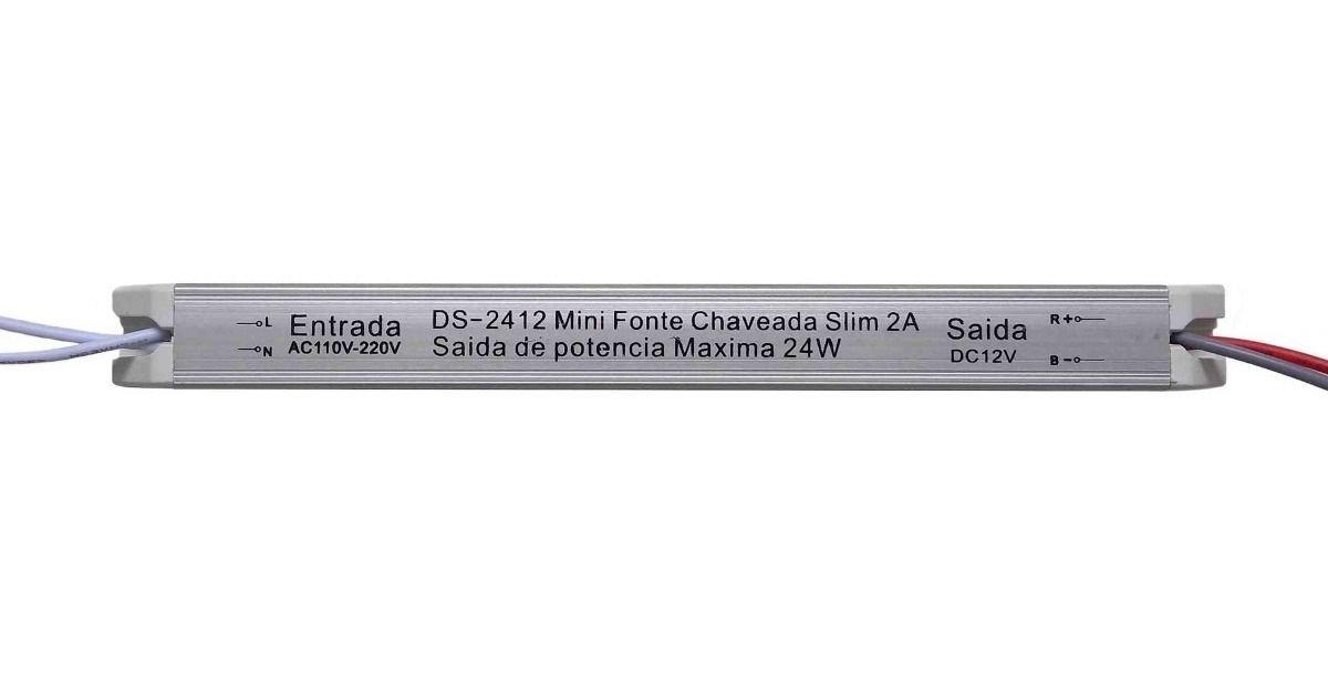MINI FONTE DRIVE CHAVEADA SLIM 48W 12V 4A BIVOLT