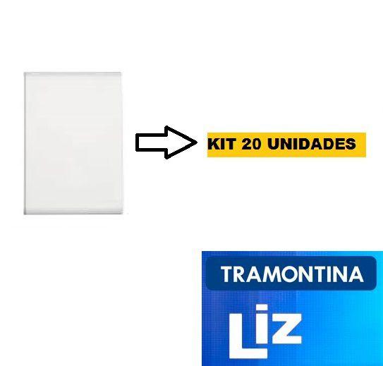 PLACAS CEGAS LIZ 4X2 TRAMONTINA KIT COM 20 UNIDADES.