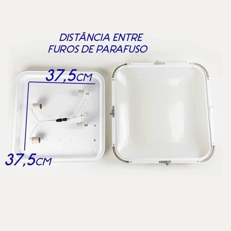 PLAFON ENZO - ZR074-L-WH - BRANCO FOSCO - 50x50cm -  4xE27