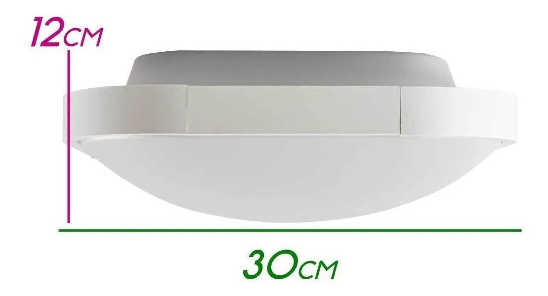 PLAFON ENZO -  ZR075-S-WH - BRANCO FOSCO - 30x30CM - 2xE27