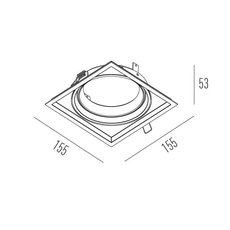 SPOT EMBUTIR FACE PLANA CDM-R111 INTERLIGHT IL4728 BRANCO