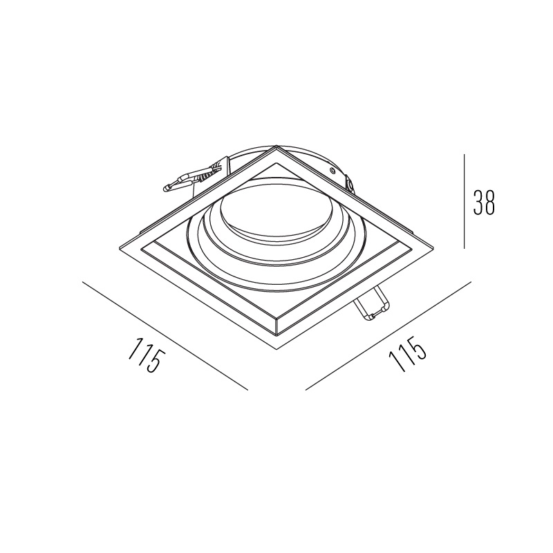 SPOT EMBUTIR RECUADO ORIENTAVEL PAR20 INTERLIGHT-IL4706 BRANCO