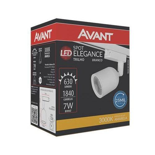 SPOT LED AVANT ELEGANCE BIVOLT 7W BRANCO 3000K