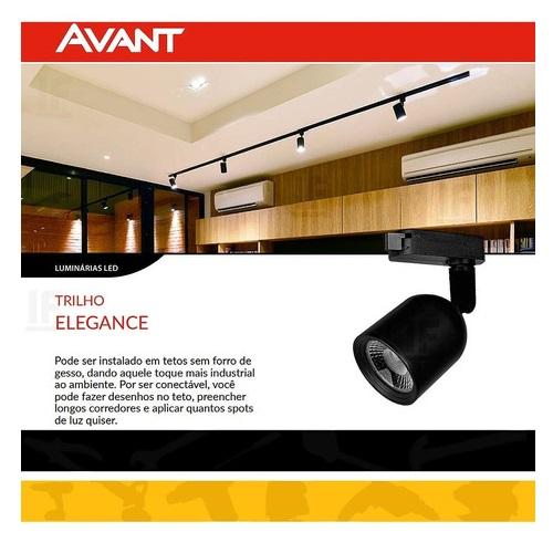 SPOT LED AVANT ELEGANCE BIVOLT 7W PRETO 6500K