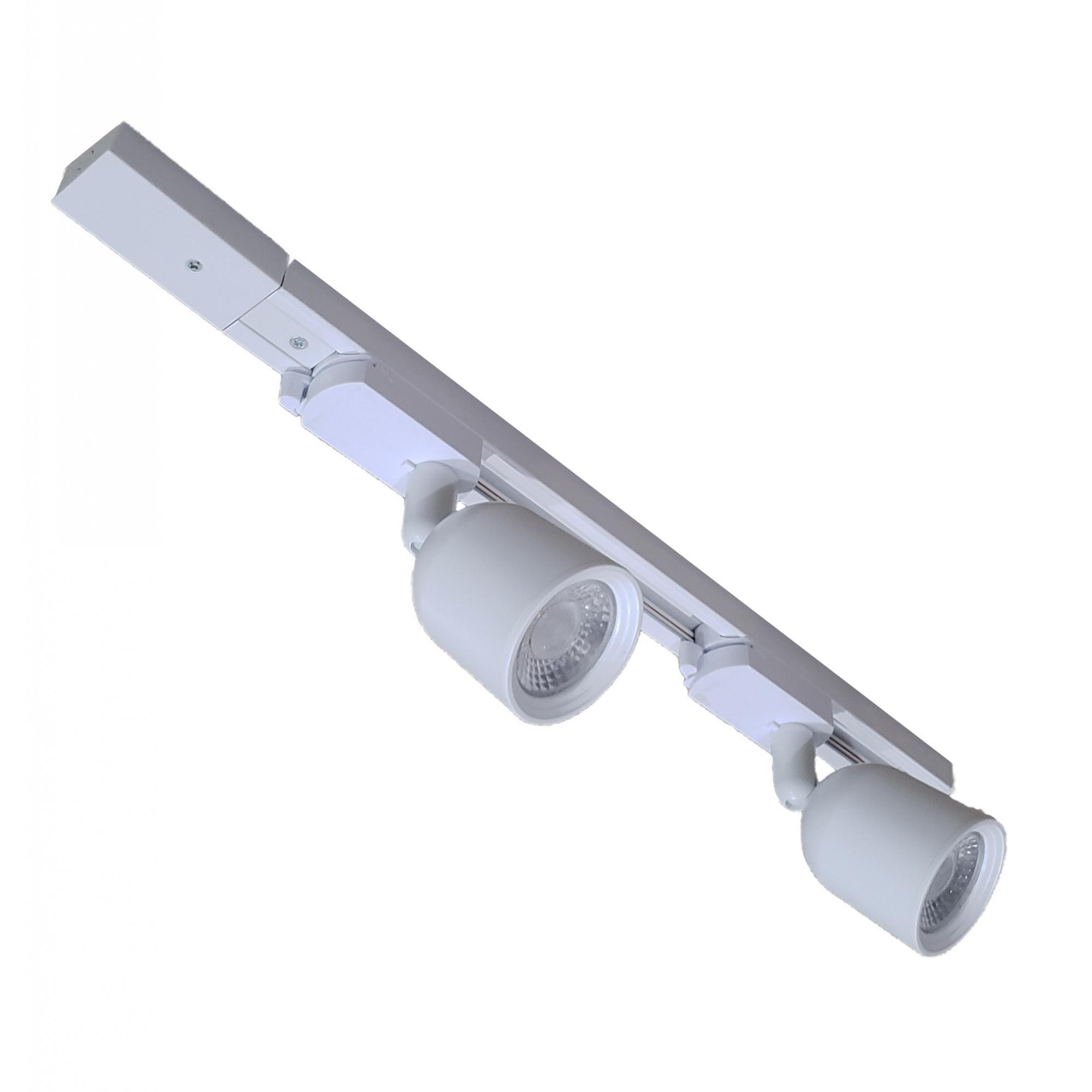 TRILHO ELETRIFICADO 50 CM + 2 SPOTS LED AVANT 7W BRANCO 6500K