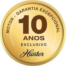 VENTILADOR DE TETO HUNTER HERUS 3 PÁS - BRANCO 127V