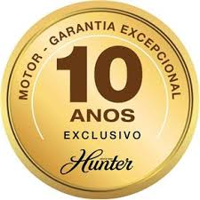 VENTILADOR DE TETO HUNTER HERUS 3 PÁS - NÍQUEL 127V