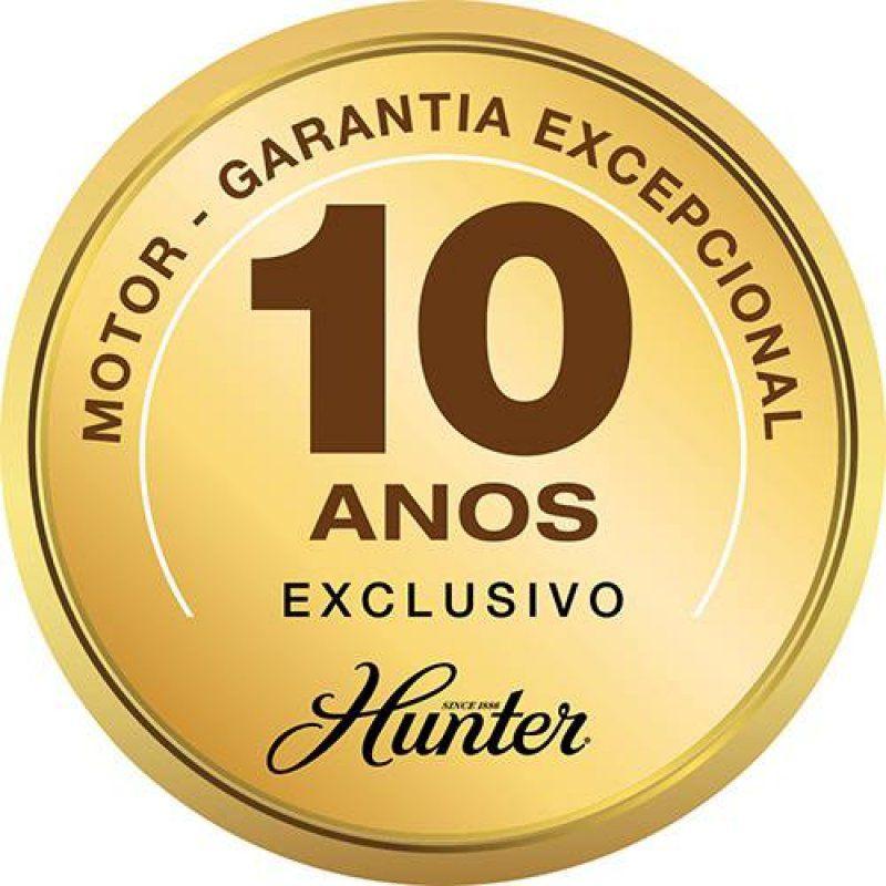 VENTILADOR HUNTER CONTEMPO 5 PÁS NÍQUEL COM NOGUEIRA - 220V