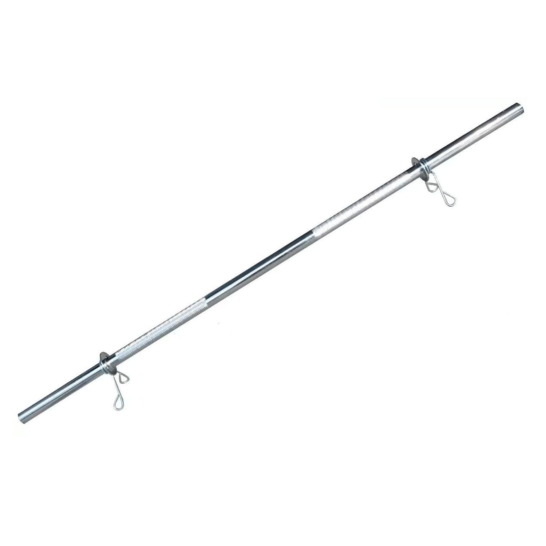 Barra Maciça Cromada 120Cm Com Presilhas Recartilhada Standart Und