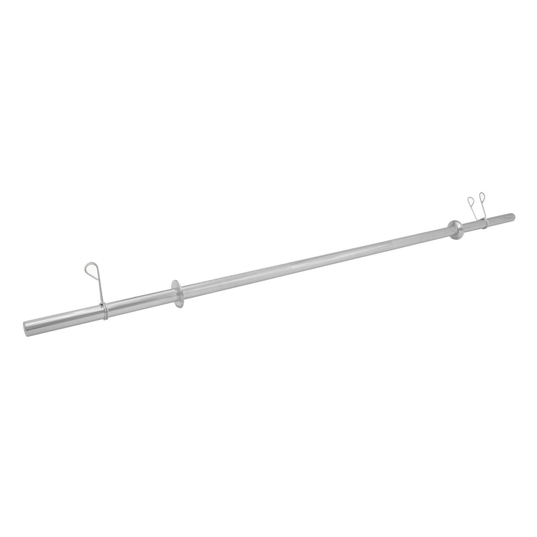 Barra Maciça Cromada 160Cm Com Presilhas Recartilhada Standart Und