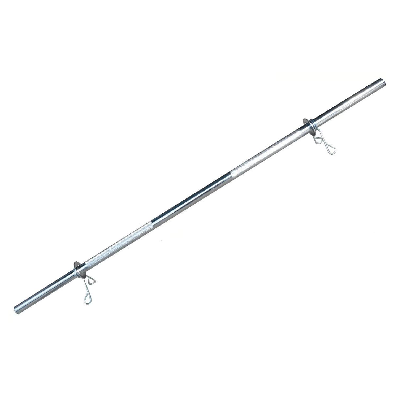 Barra Maciça Cromada 180Cm Com Presilhas Recartilhada Standart Und