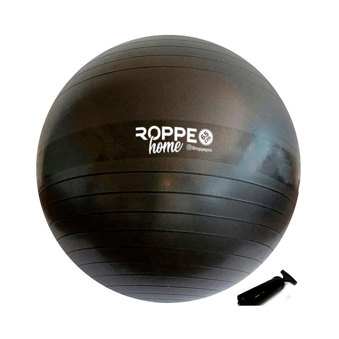 Bola De Pilates 65Cm Cinza Chumbo Roppe