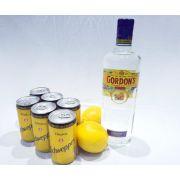 Kit Gin Gordons, 6 Tônicas Schweppes, Limão + Especiarias