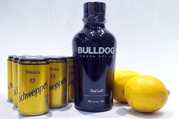 Kit Gin Bulldog, Tônicas Schweppes, Limão + Especiarias  - Octo em Casa