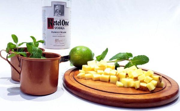 Kit Moscow Mule - Vodka Ketel One, Limão, Gengibre, Goma de açúcar + Hortelã  - Octo em Casa