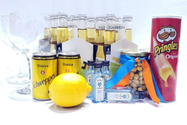 Kit Happy Hour Gin - 6 Pessoas   - Octo em Casa