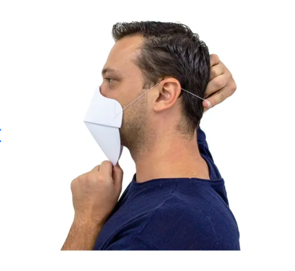 Máscara Higienizável De Papel (caixa C/100 Unid)