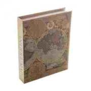 Caixa de Papel Rígido Mapa Antigo 30x24x5cm