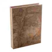Caixa de Papel Rígido Mapa Antigo  36x27x5cm