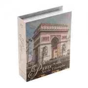 Caixa Livro Papel Rígido Arco Do Triunfo 20x16x5cm