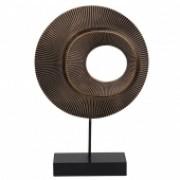Escultura Decorativa de Madeira   25CM X 6CM X 36CM