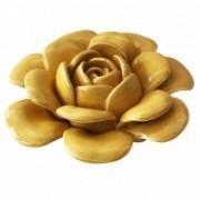 Flor Decorativa de Cerâmica Amarela