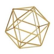 Forma Geométrica em Metal Dourado G