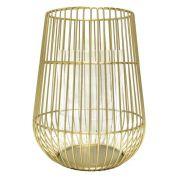 Lanterna de Vidro e Metal Dourado