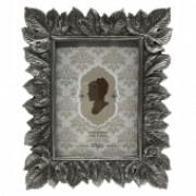Porta Retrato De Resina Prata Velho 21,5CM X 2,5CM X 26,5CM