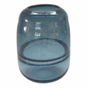 Vaso De Vidro Transparente Azul