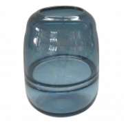 Vaso De Vidro Transparente Azul P